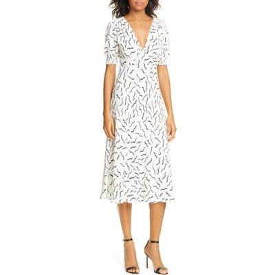 Dvf Jemma Print A-Line Dress