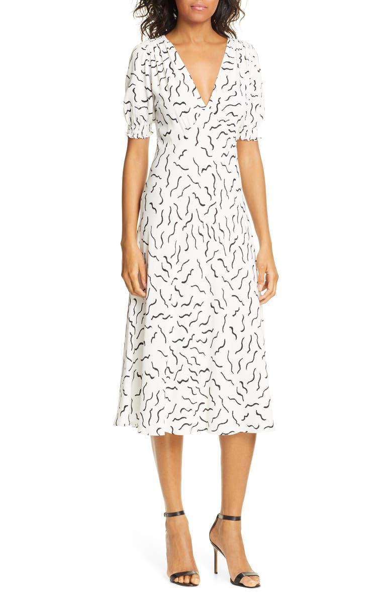 DVF Jemma Print A-Line Dress, Main, color, 100