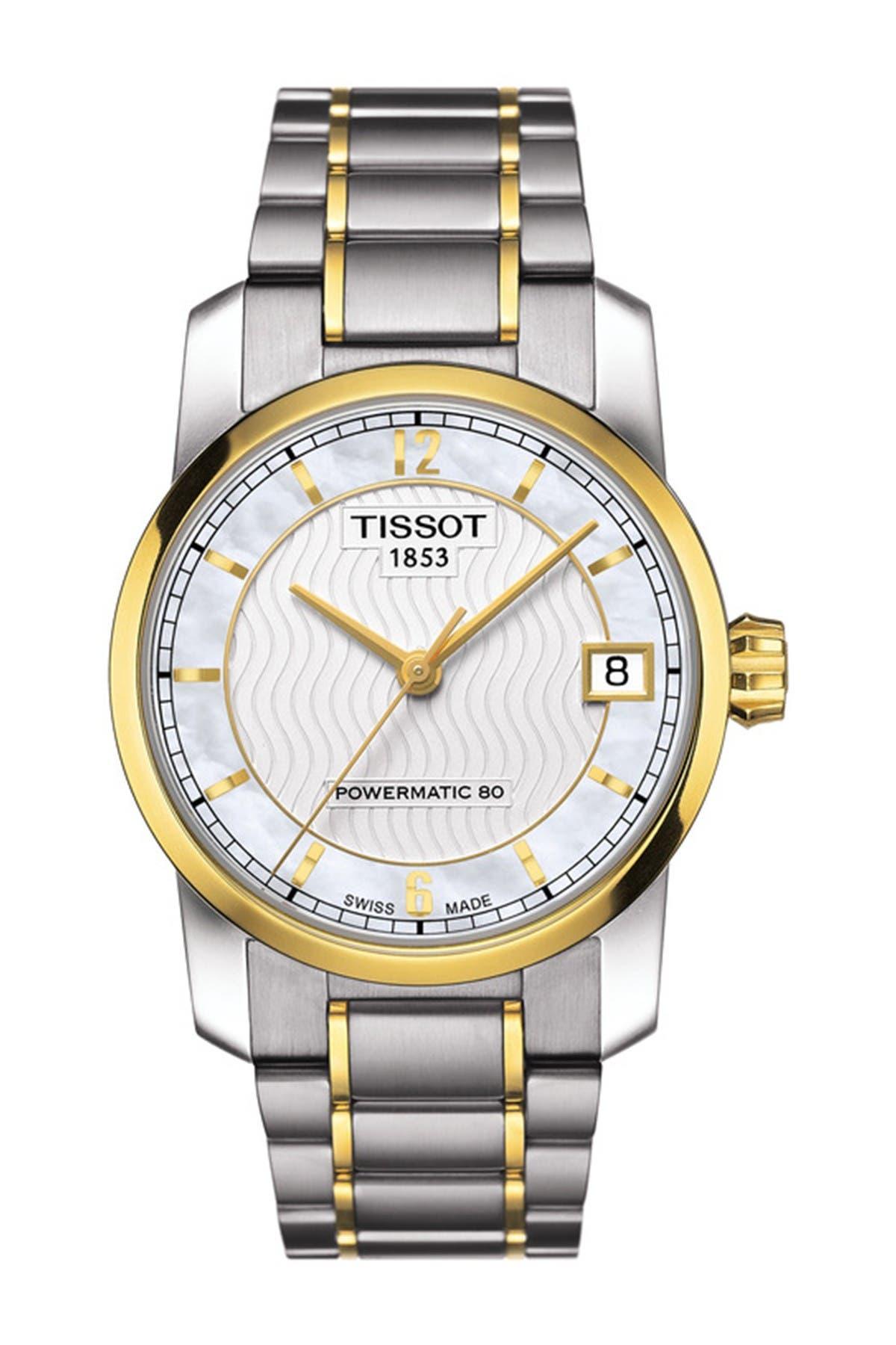 Image of Tissot Women's Titanium Powermatic 80 Watch, 32mm