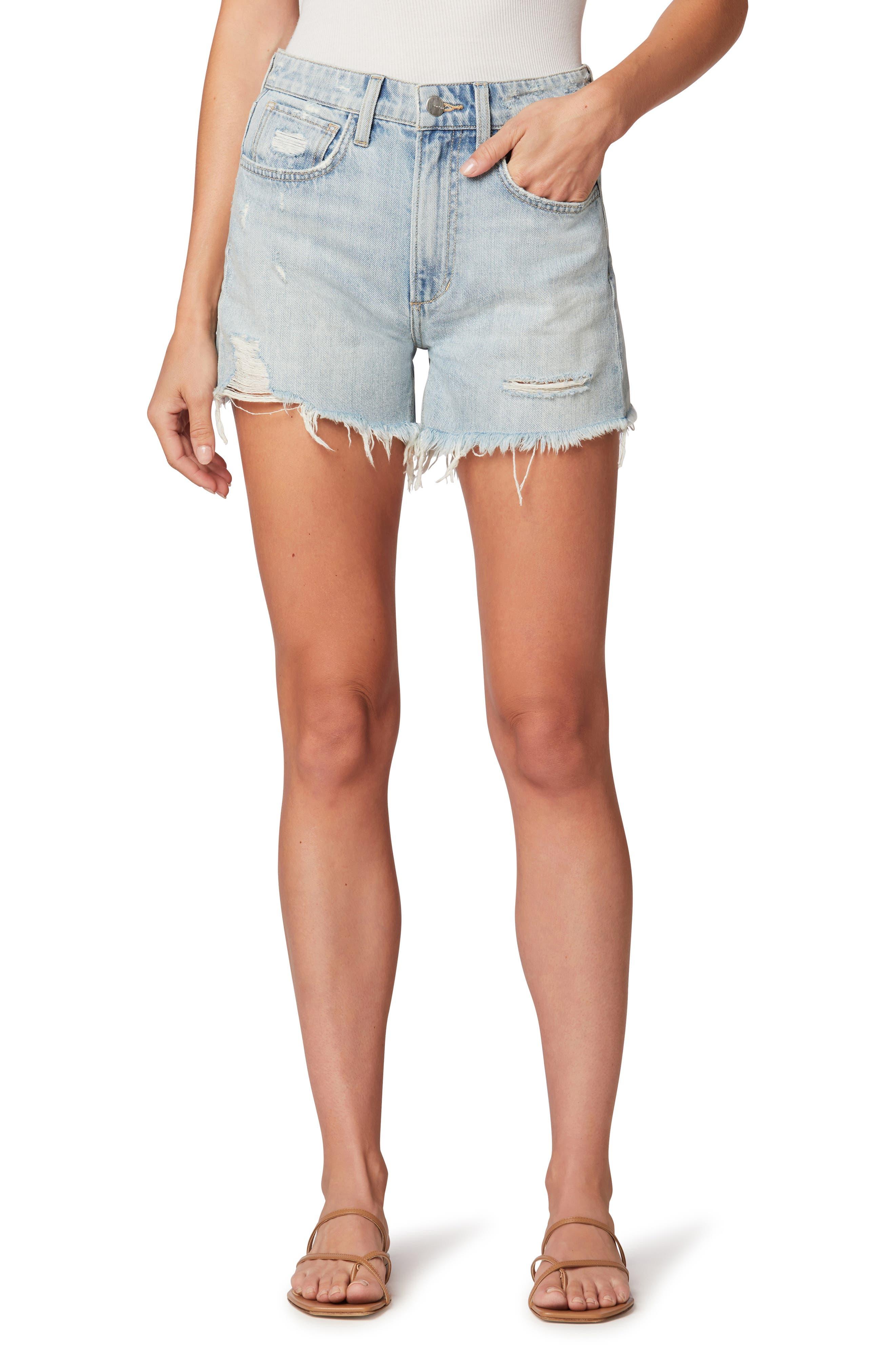 The Sadie Distressed High Waist Denim Shorts