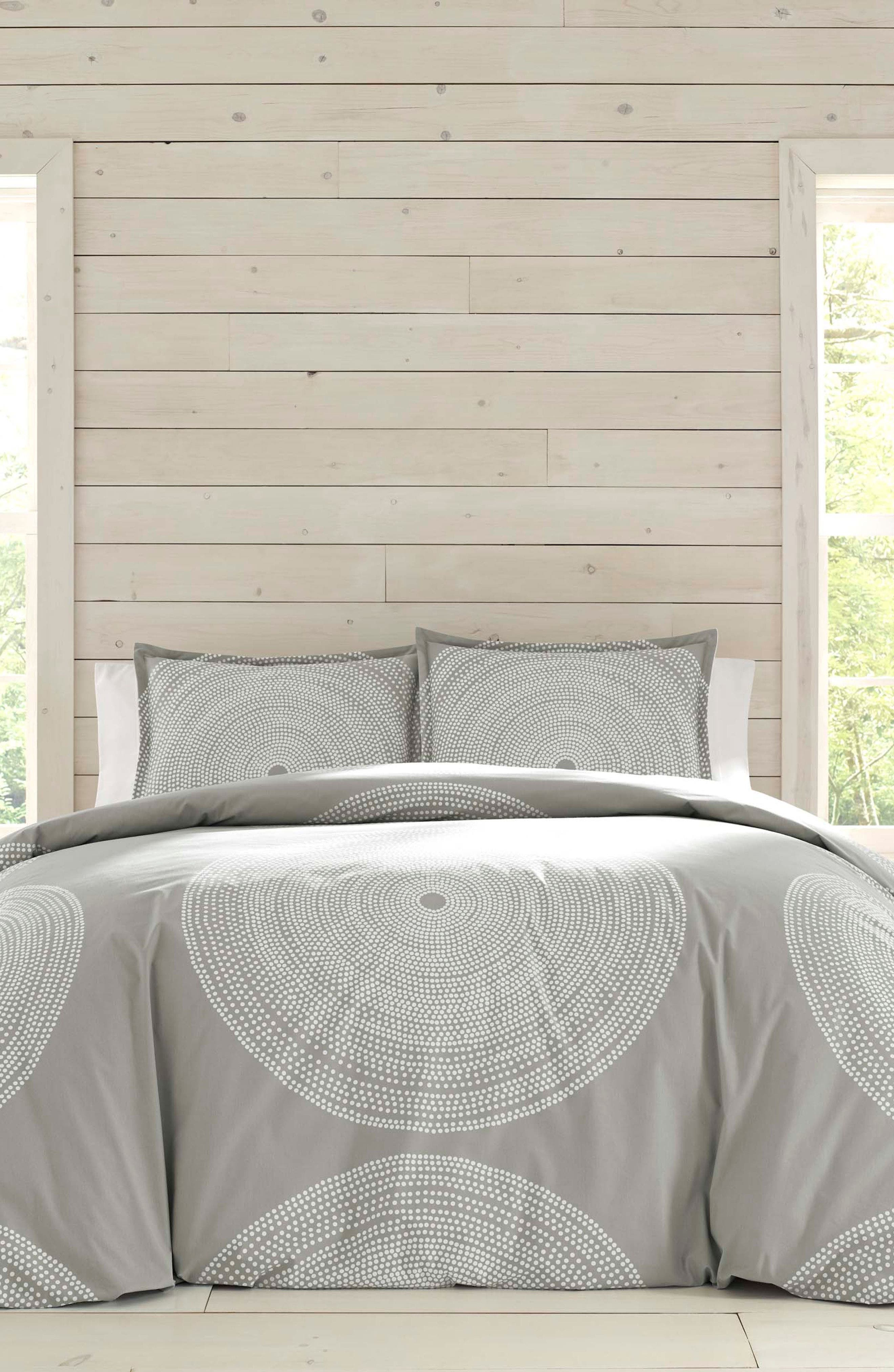 Marimekko Fokus Duvet Cover  Sham Set Size Queen  Grey