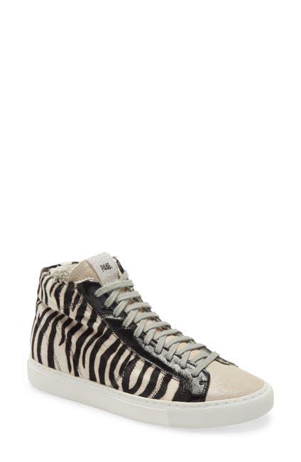 Image of P448 Star Zebra High Top Sneaker