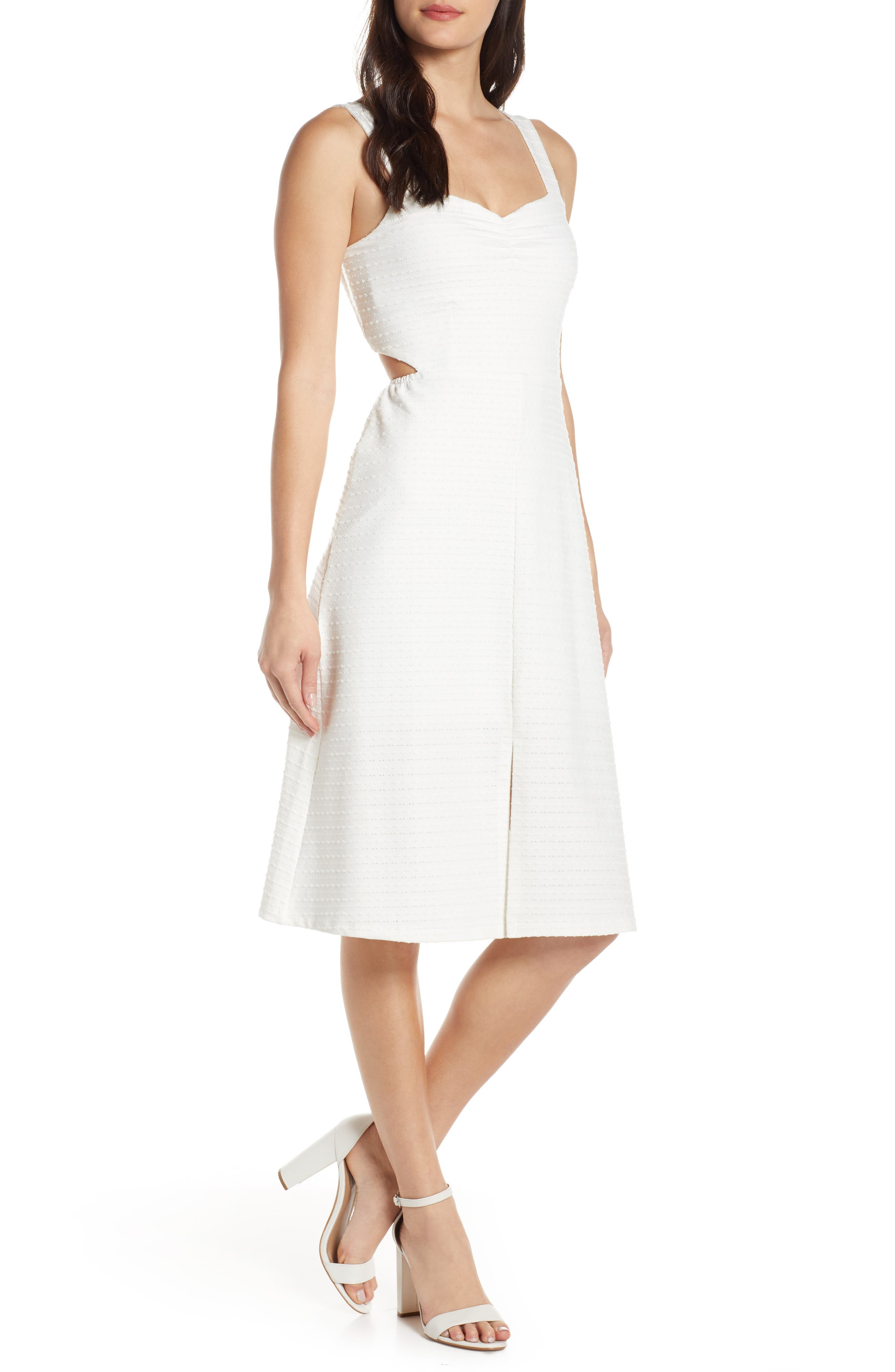 Ali & Jay Ace-Ing It Fit & Flare Midi Dress, White