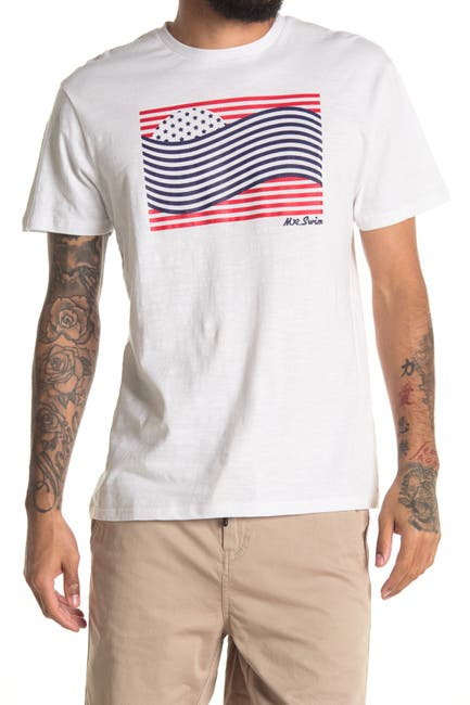 Image of Mr. Swim Sunset Waves Graphic Crew Neck T-Shirt