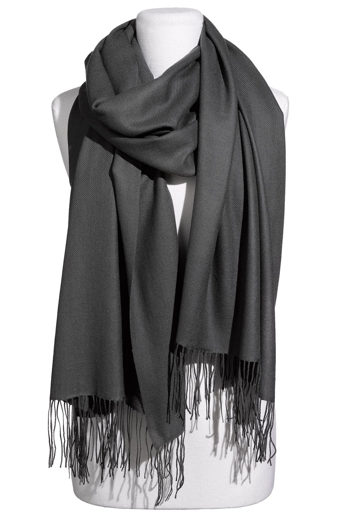 ,                             Tissue Weight Wool & Cashmere Wrap,                             Main thumbnail 4, color,                             022