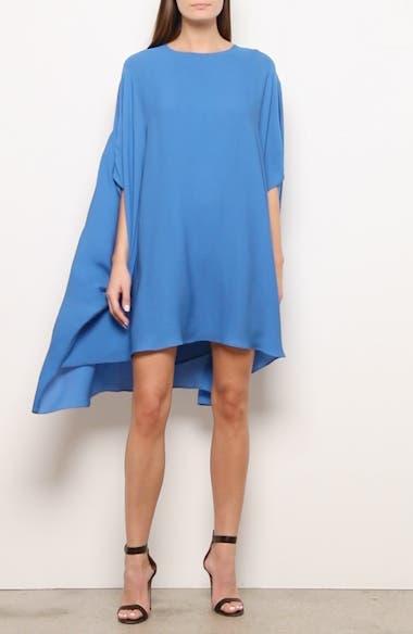 Draped Silk Georgette Dress, video thumbnail