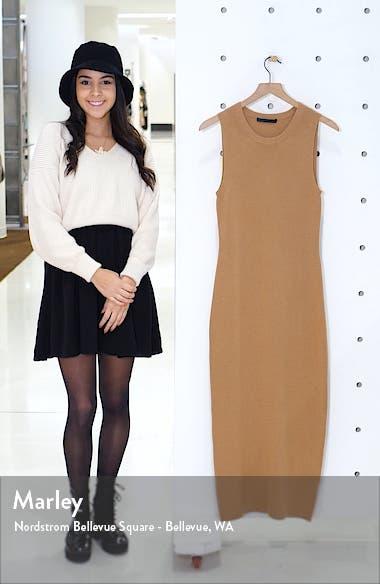 Sleeveless Cotton & Cashmere Blend Sweater Dress, sales video thumbnail