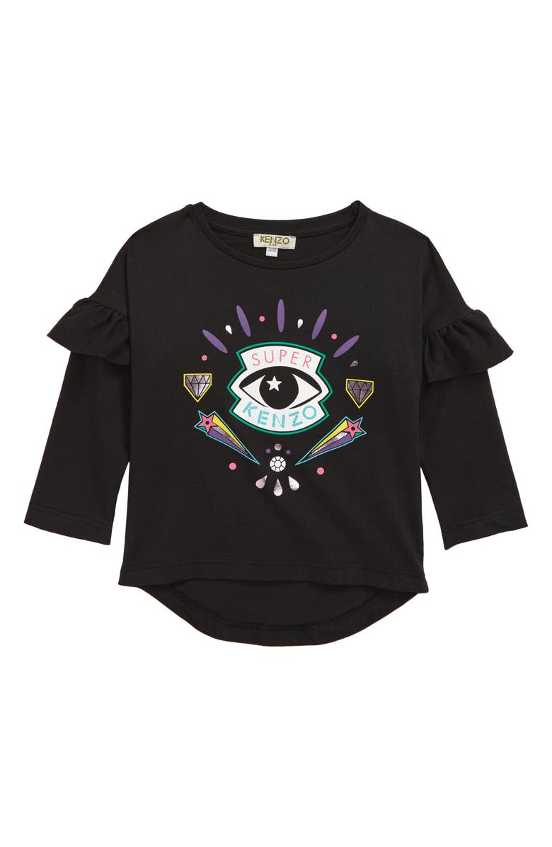 KENZO Eye Graphic Tee, Main, color, BLACK