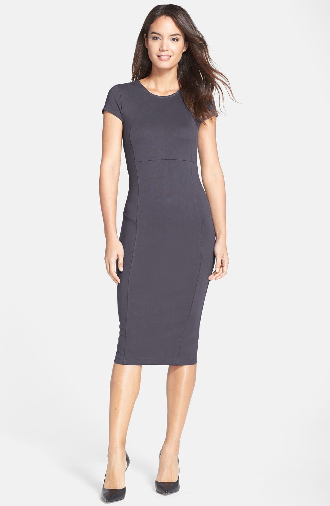 ,                             Ward Seamed Pencil Dress,                             Main thumbnail 31, color,                             039