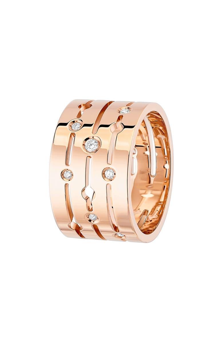 DINH VAN Pulse Large Diamond 18K Gold Ring, Main, color, 712