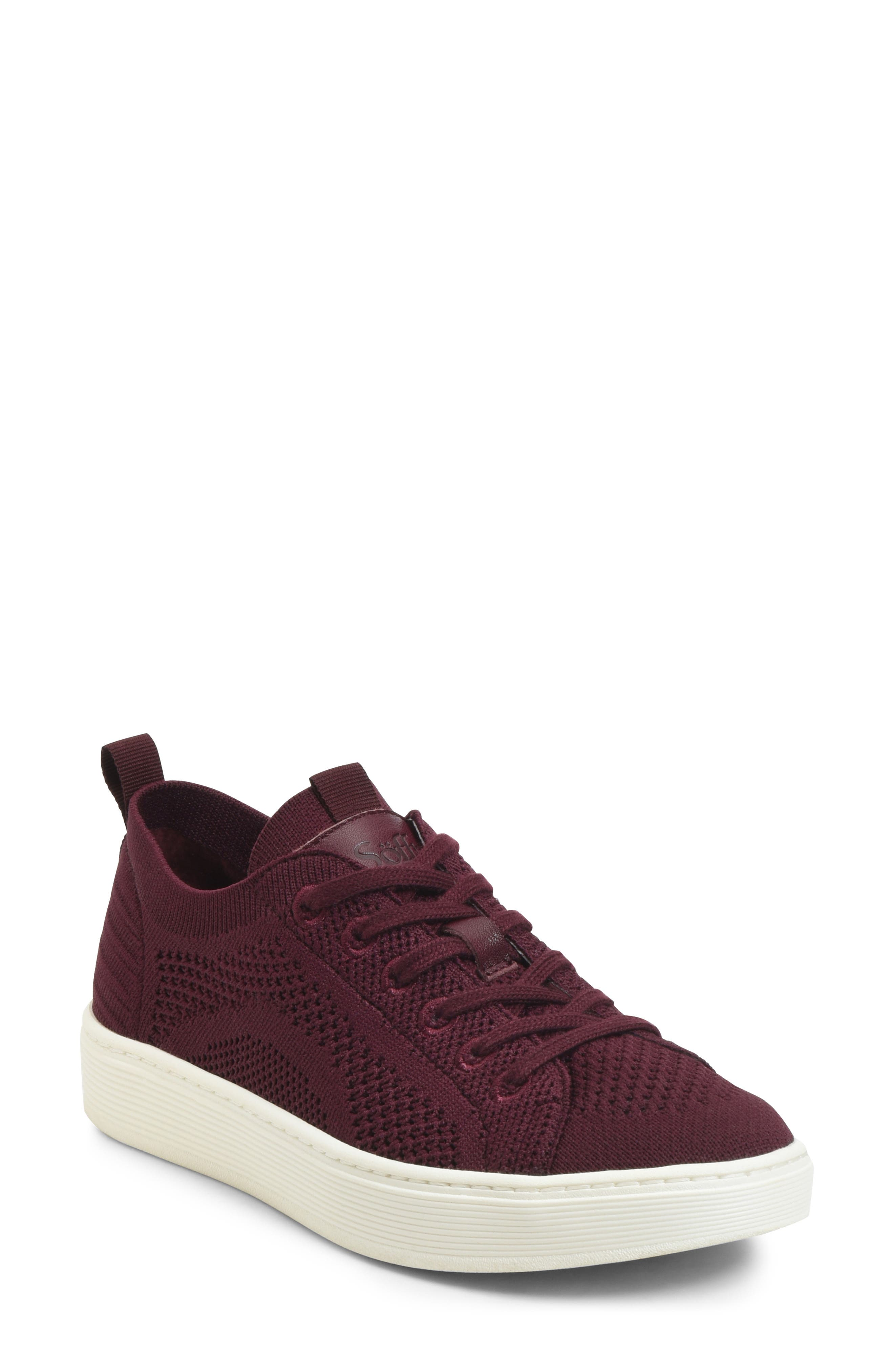 Sofft Somers Knit Sneaker, Burgundy