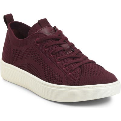 Sofft Somers Knit Sneaker- Burgundy