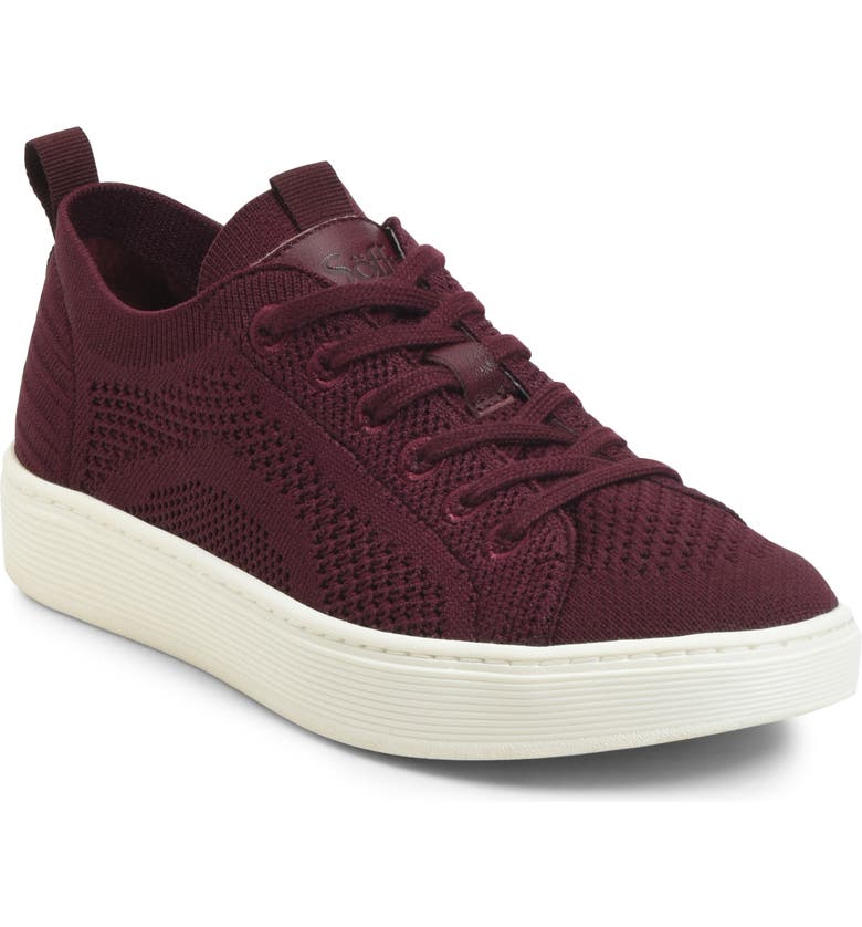 SÖFFT Somers Knit Sneaker, Main, color, CORDOVAN