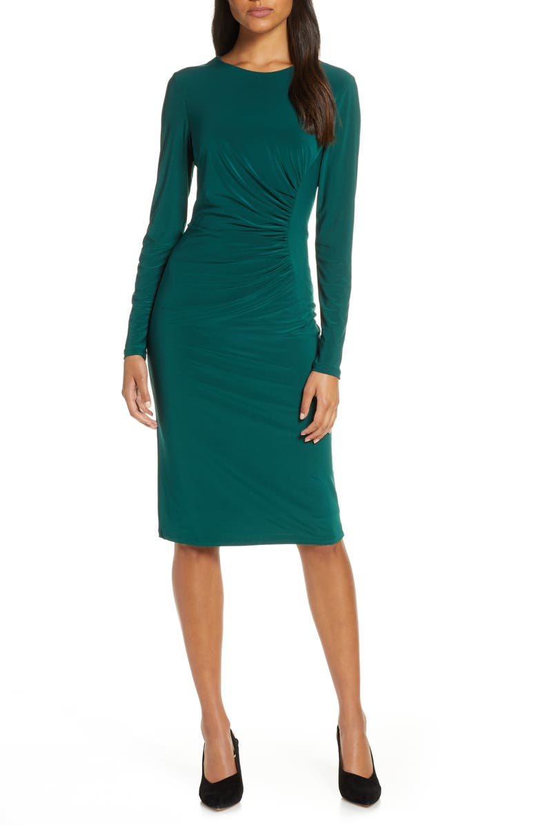 HARPER ROSE Long Sleeve Ruched Jersey Dress, Main, color, 300