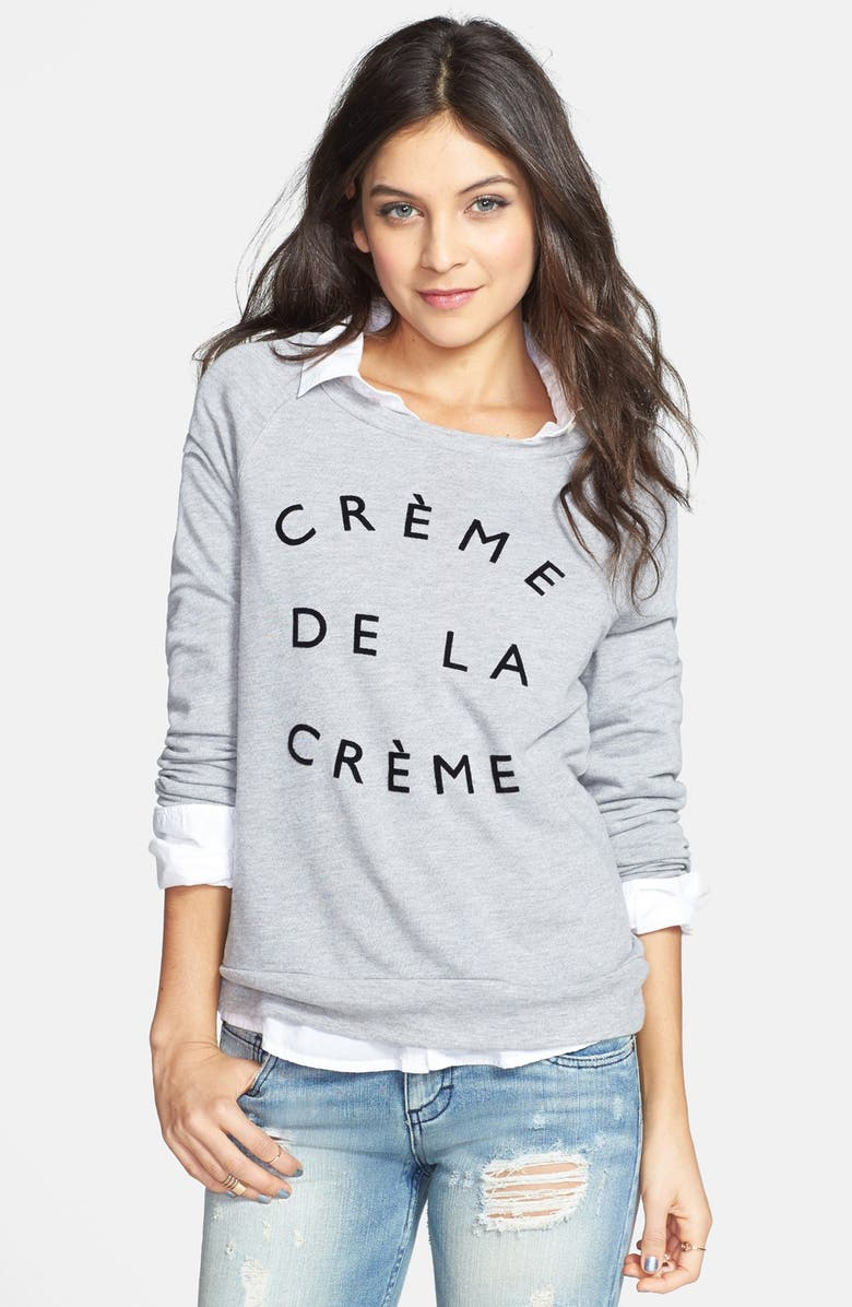 PROJECT SOCIAL T 'Crème de la Crème' Pullover, Main, color, 052