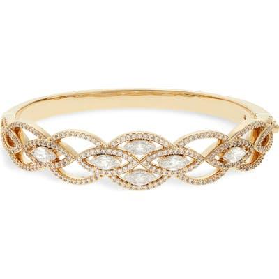 Nadri Plus One Cubic Zirconia Hinge Bracelet