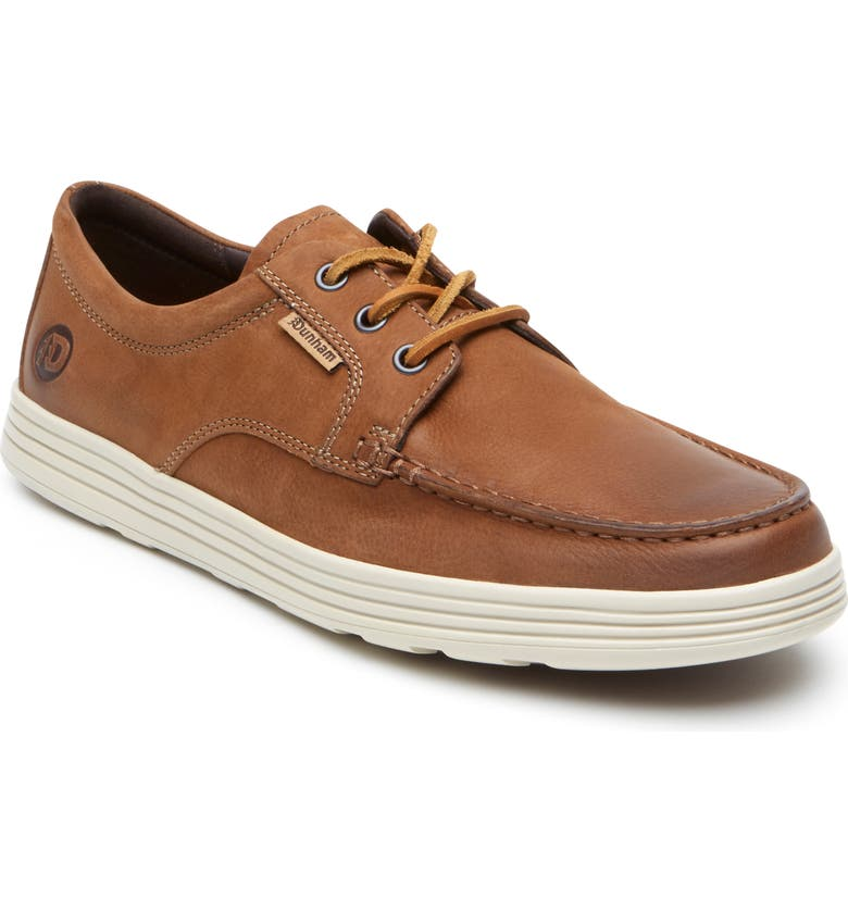 DUNHAM Colchester Moc Toe Derby, Main, color, BROWN LEATHER