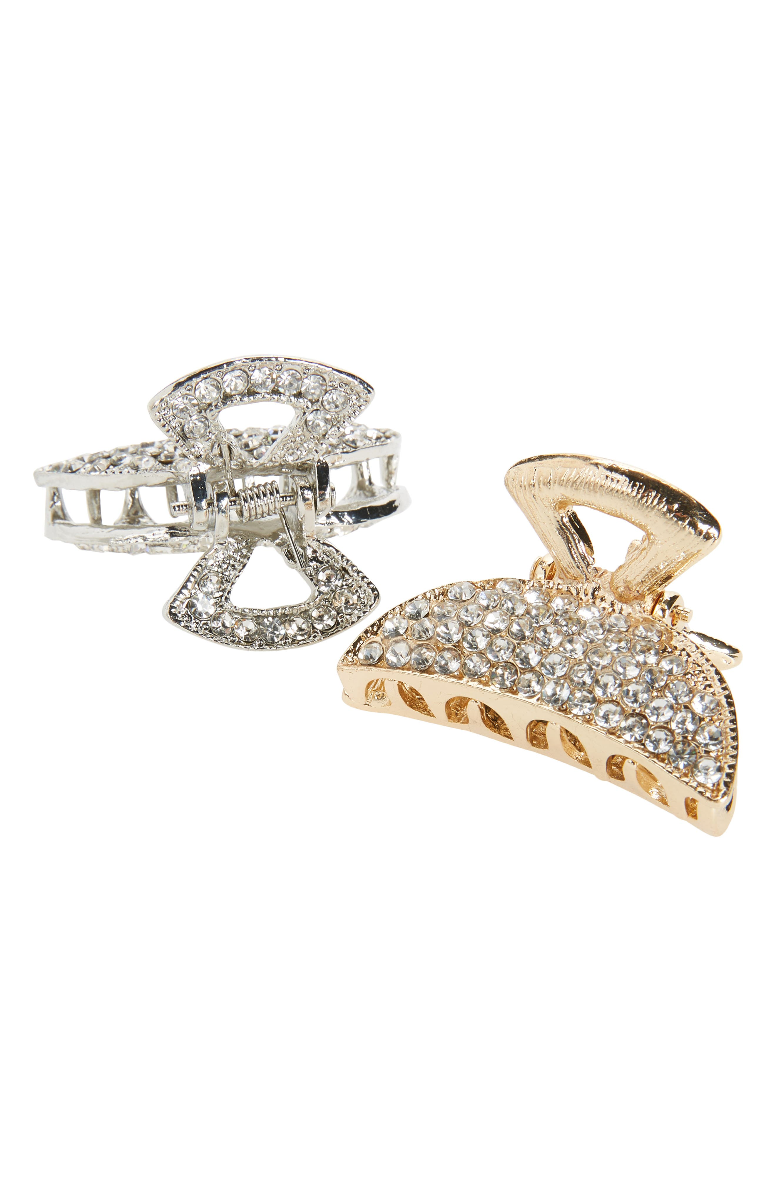 2-Pack Crystal Jaw Hair Clips