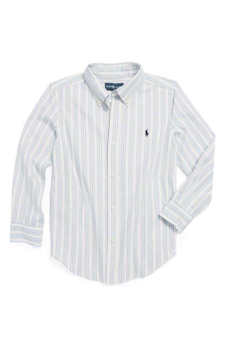 RALPH LAUREN Stripe Shirt, Main, color, 100