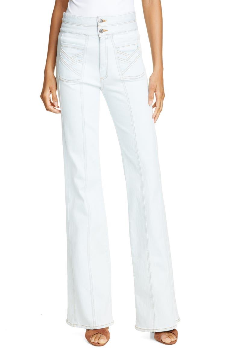 VERONICA BEARD Farrah Wide Leg Jeans, Main, color, 462