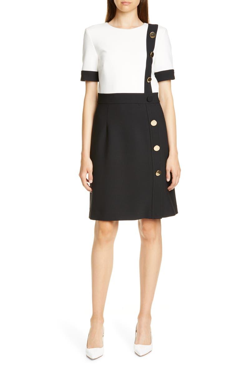 JUDITH & CHARLES Kristy Dress, Main, color, BLACK
