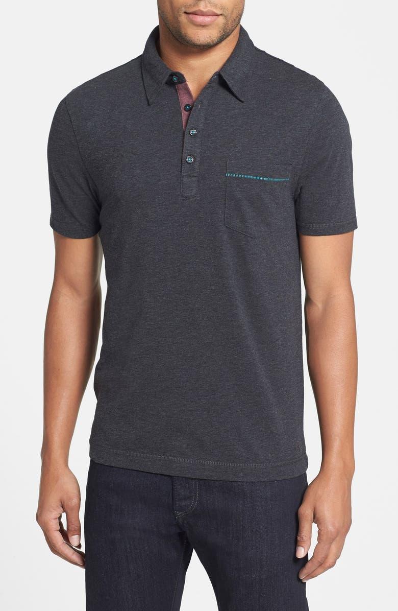 ORIGINAL PENGUIN 'Bing' Trim Fit Cotton Jersey Polo, Main, color, 005