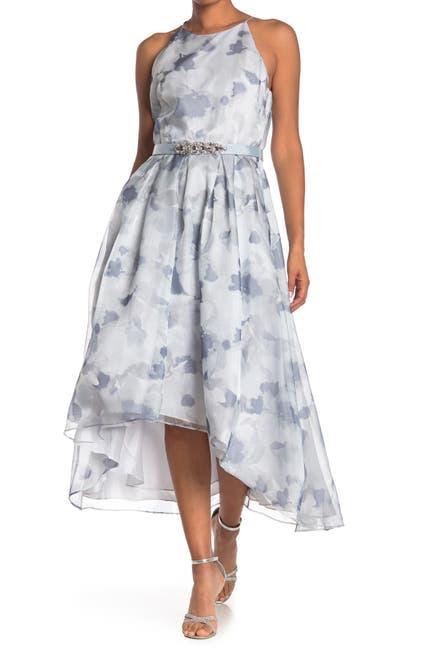 Image of Eliza J Belted Halter Hi-Lo Dress