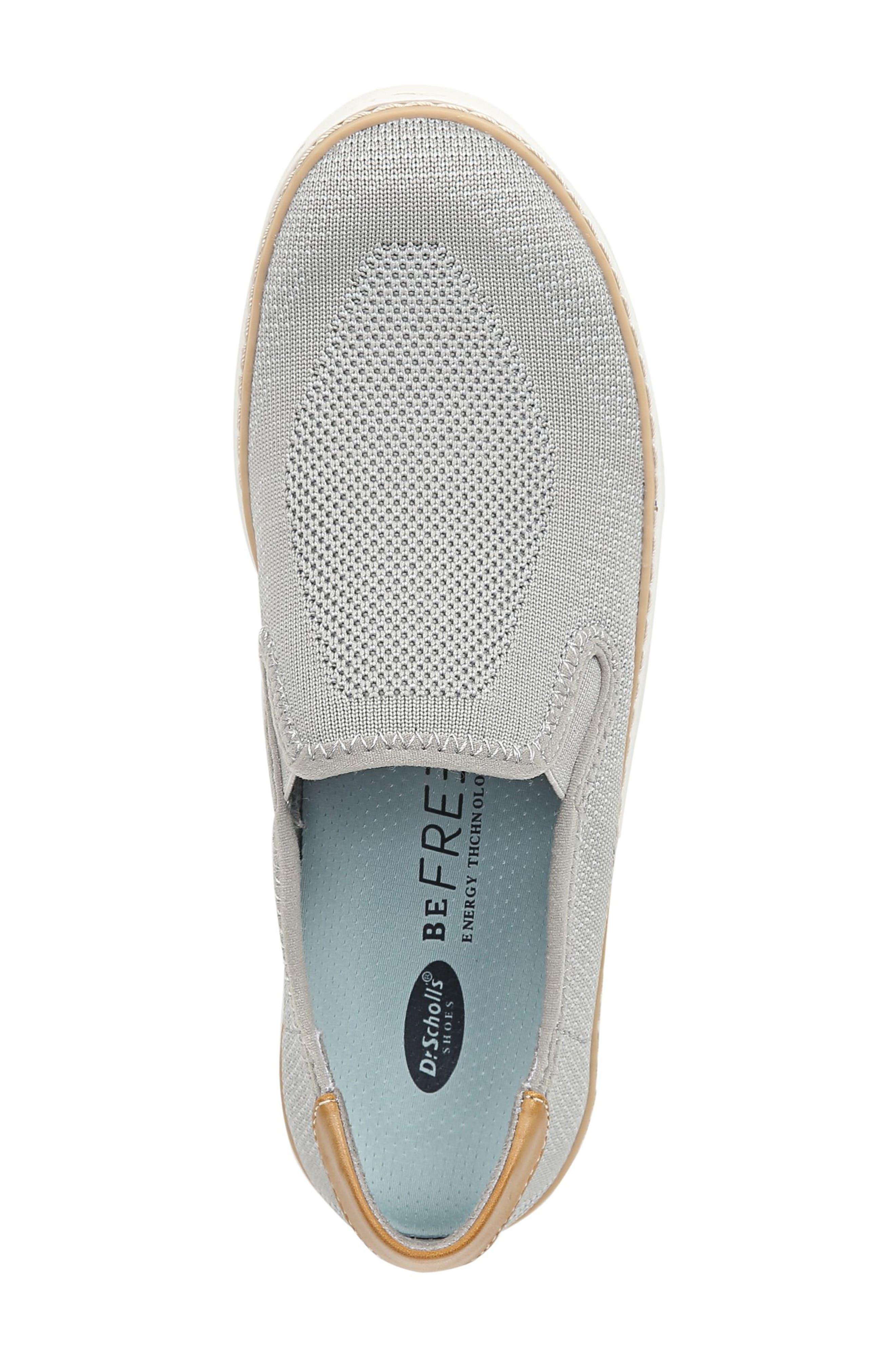 ,                             Madi Slip-On Sneaker,                             Alternate thumbnail 5, color,                             GREY KNIT FABRIC