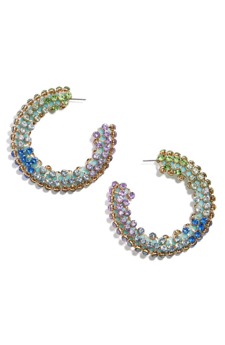 BAUBLEBAR Moonlight Hoop Earrings, Main, color, 400