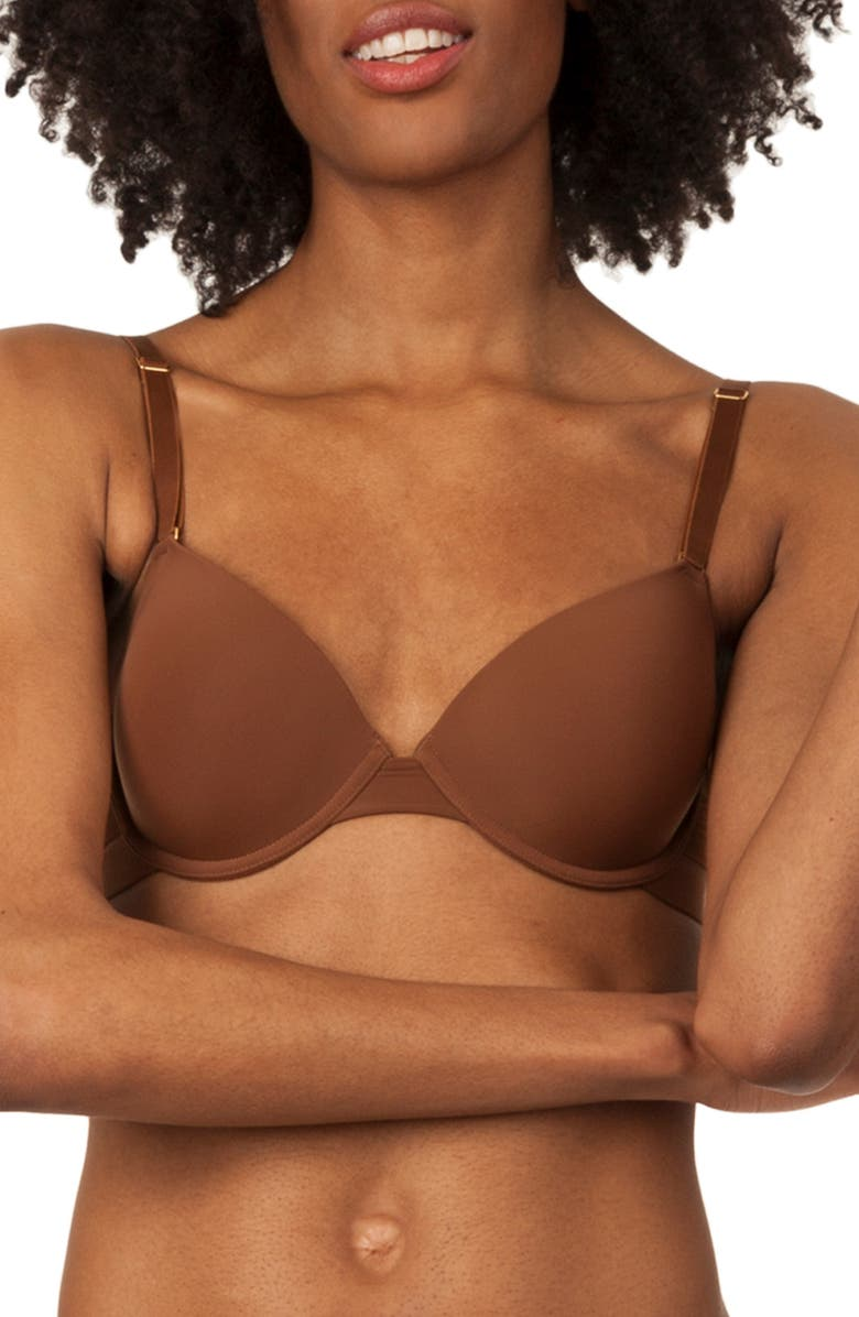 LIVELY The T-Shirt Bra, Main, color, RICH CLAY