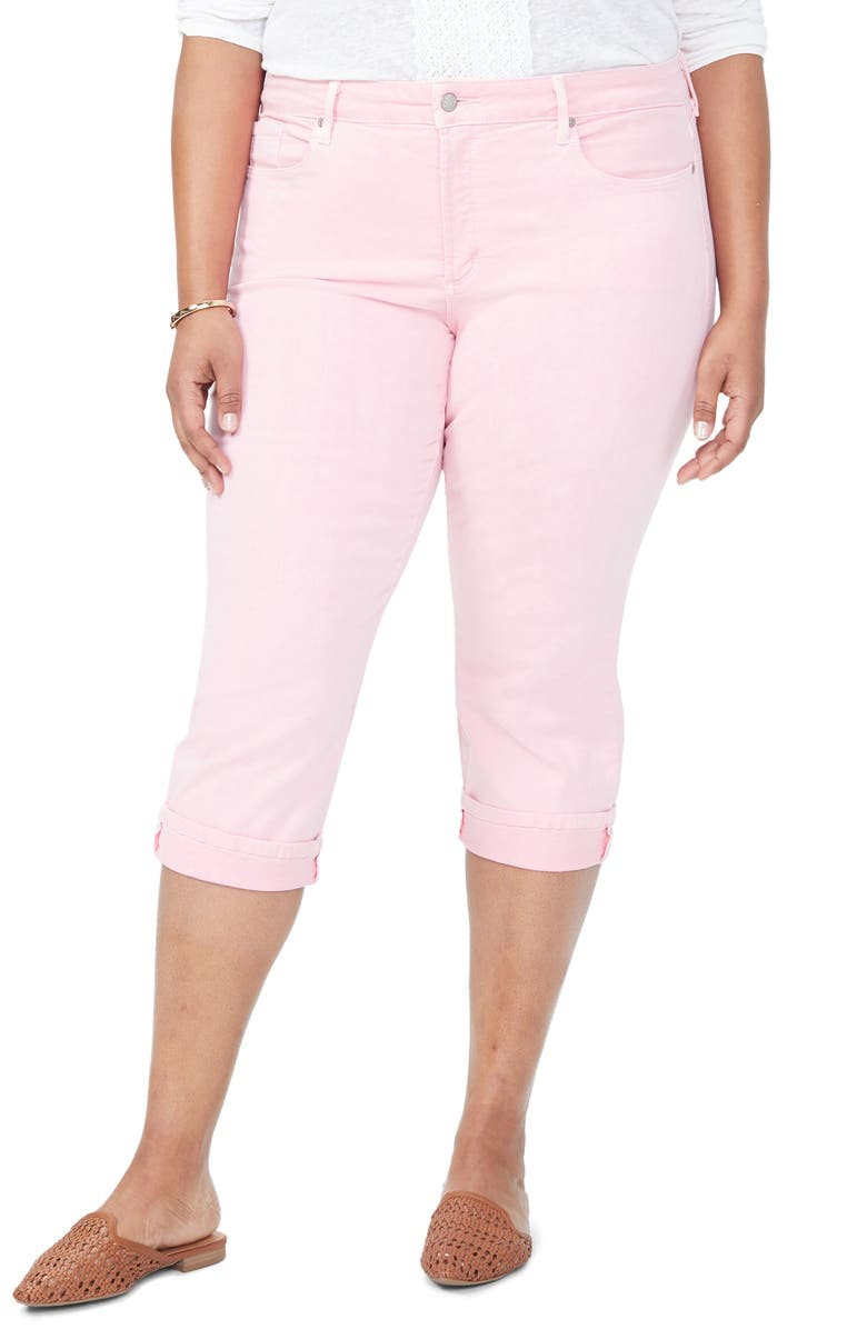 NYDJ Marilyn Crop Cuff Jeans, Main, color, PRIMROSE