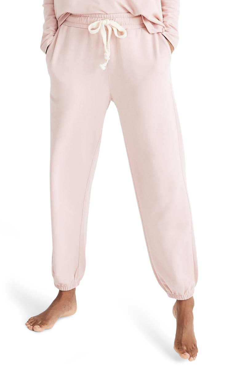 MADEWELL Pajama Sweatpants, Main, color, PRIMROSE RINK
