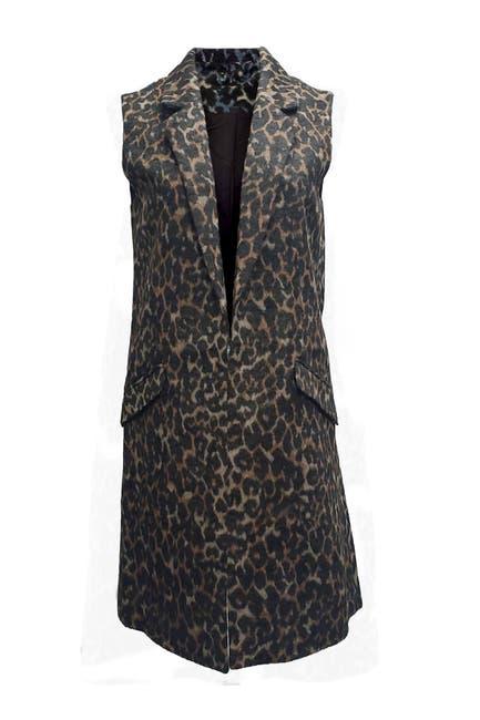 Image of Dolce Cabo Leopard Print Open Front Vest
