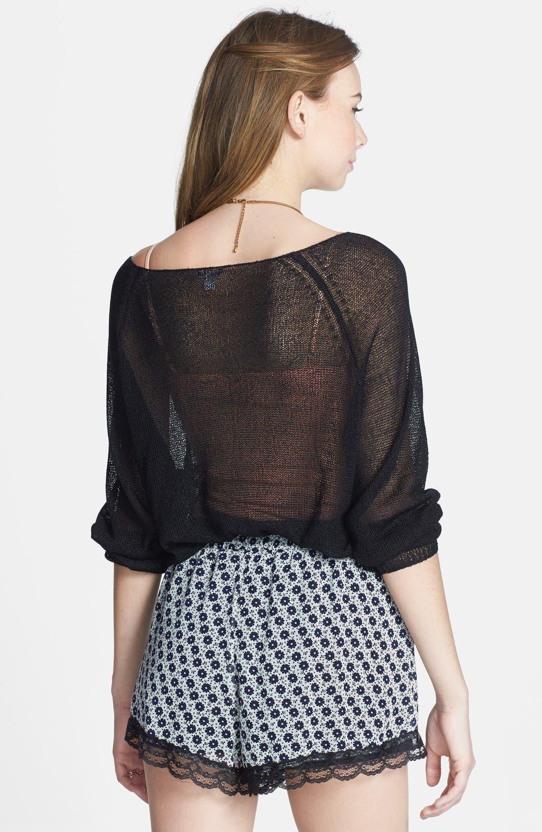 ,                             Lace Trim Floral Print Shorts,                             Alternate thumbnail 29, color,                             901