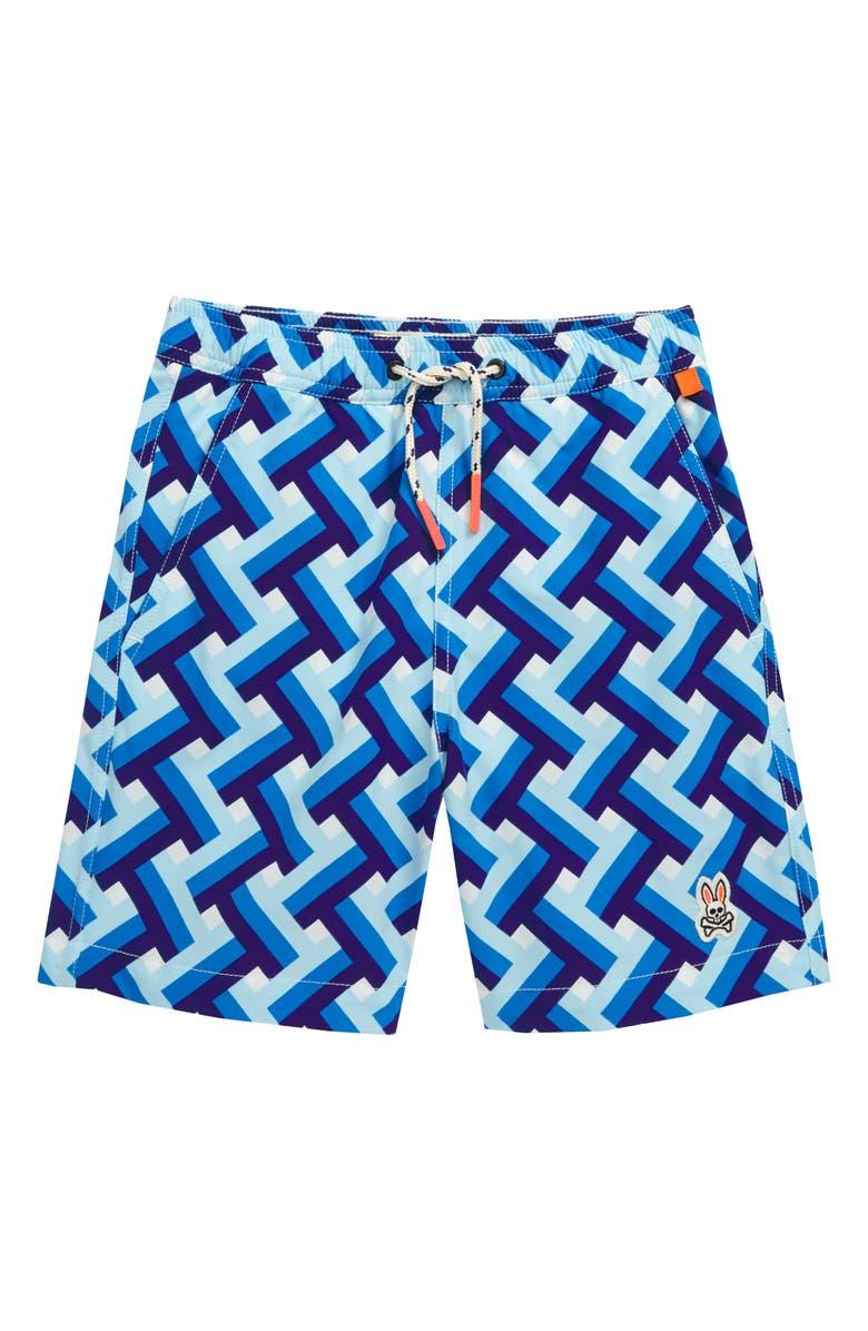 PSYCHO BUNNY Portsmouth Swim Trunks, Main, color, 494