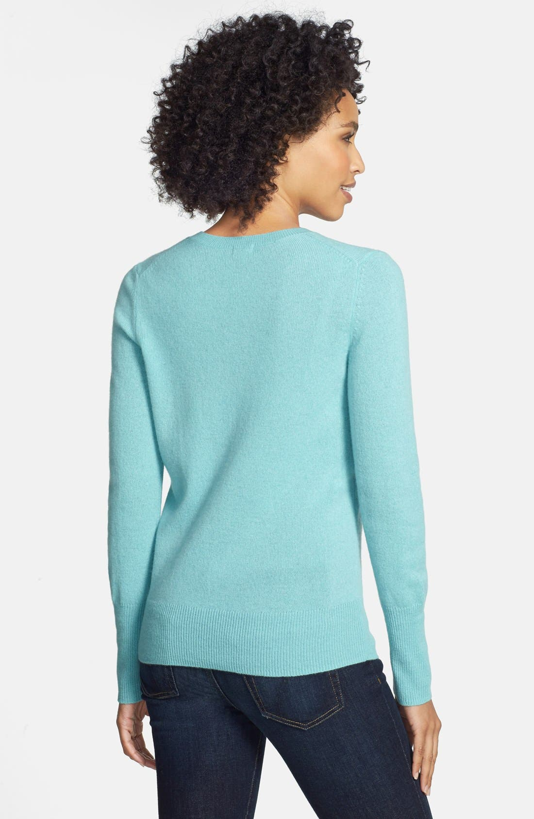 ,                             Cashmere V-Neck Sweater,                             Alternate thumbnail 42, color,                             421