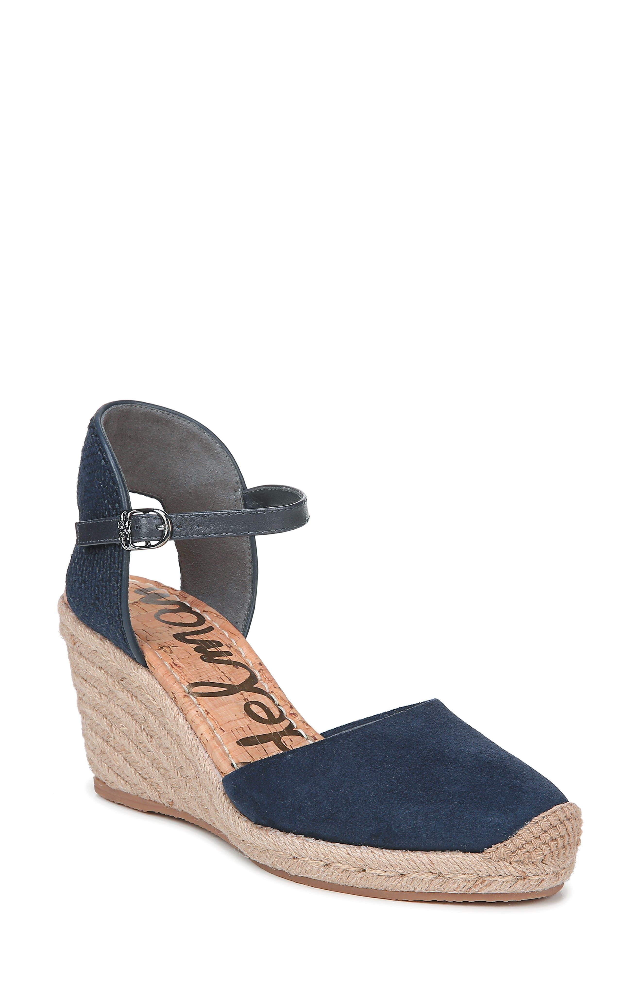 Sam Edelman Payton Wedge Sandal, Blue