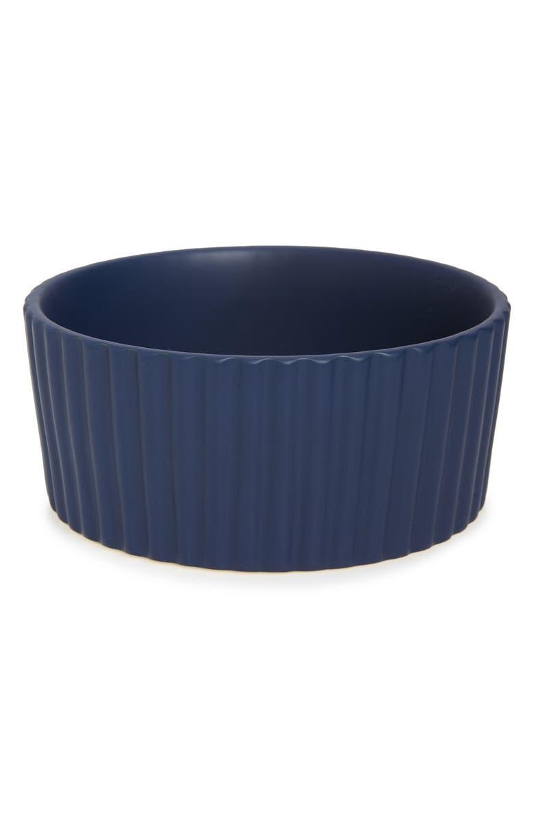 WAGGO Ripple Ceramic Dog Bowl, Main, color, 400