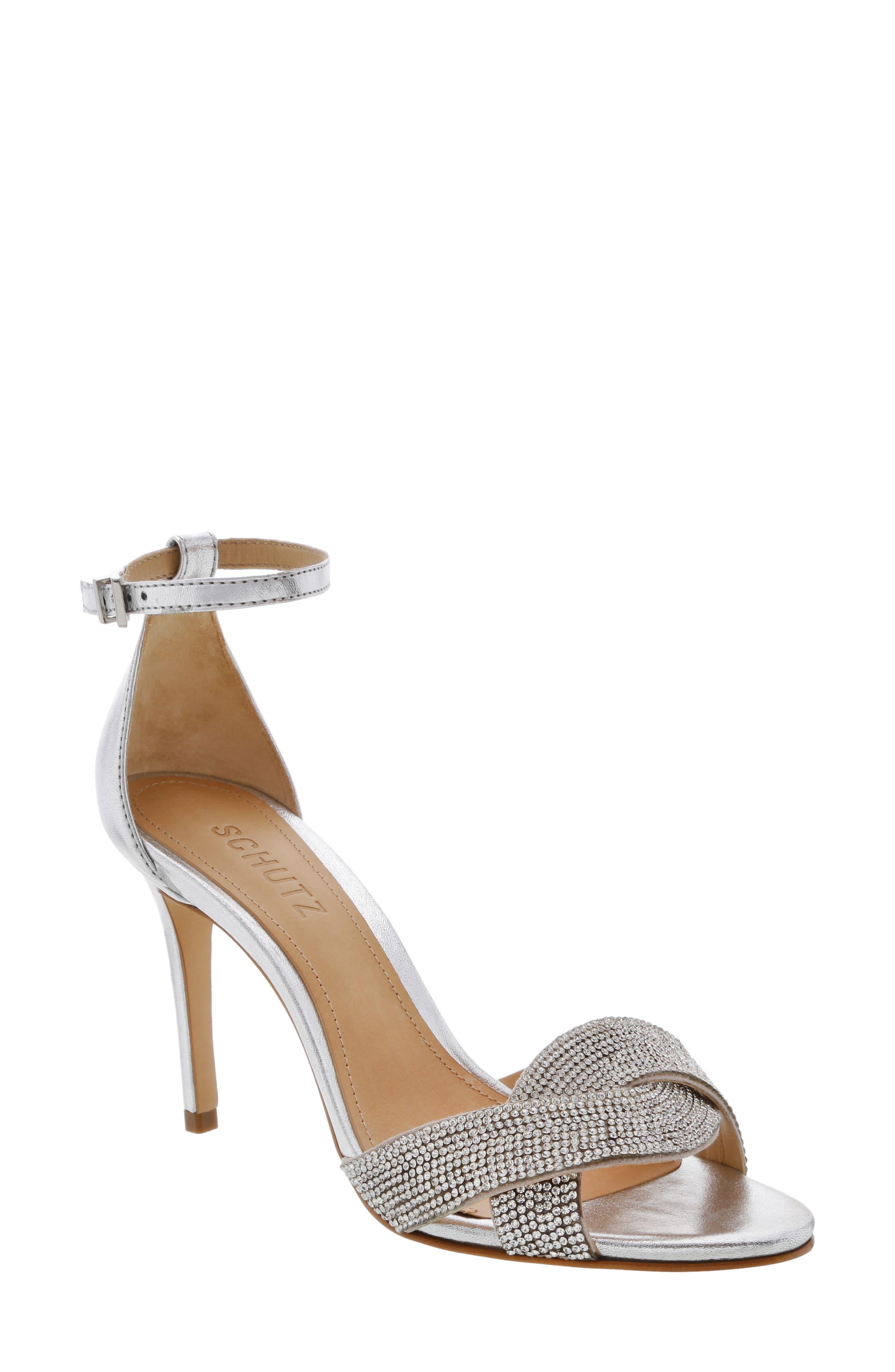 Schutz Jolita Ankle Strap Sandal- Metallic