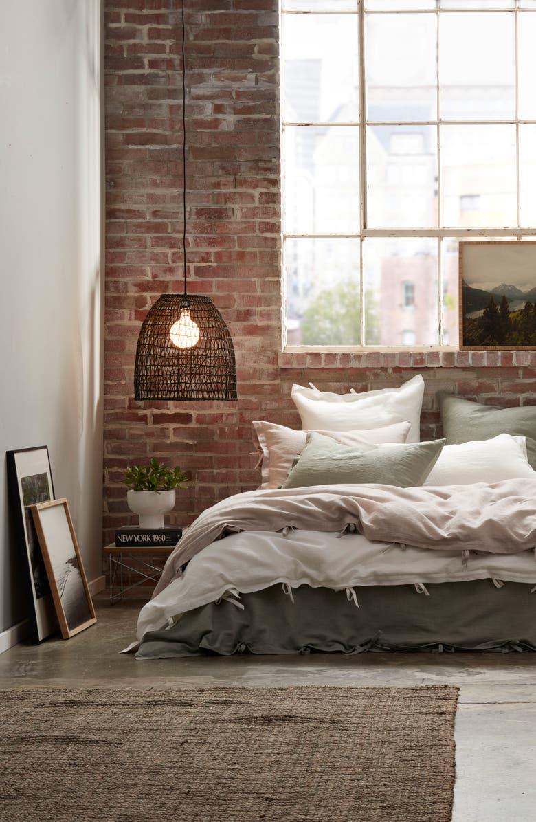 TREASURE & BOND Relaxed Cotton & Linen Duvet Cover, Main, color, GREY OWL