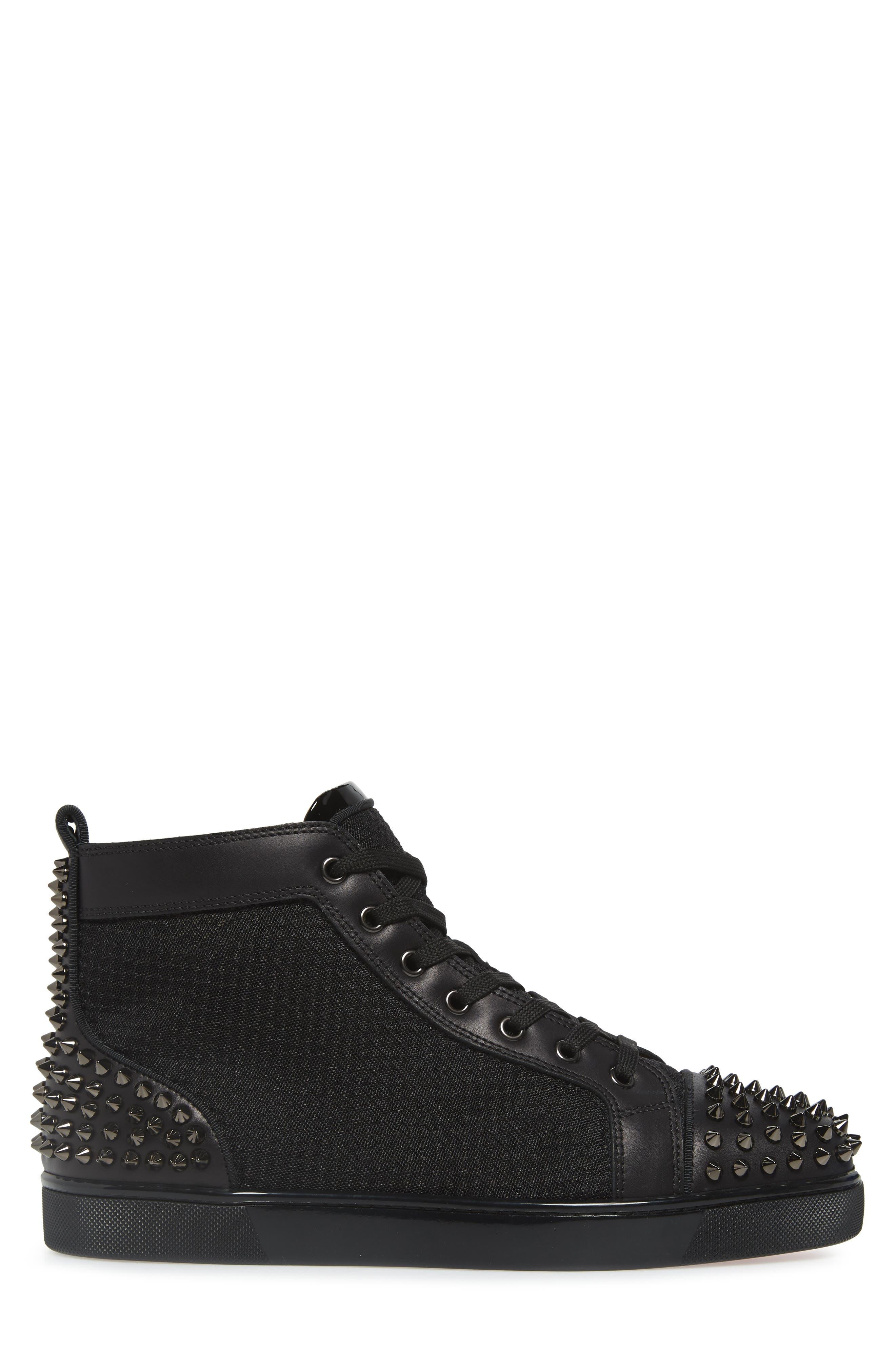 ,                             AC Lou Spikes 2 High Top Sneaker,                             Alternate thumbnail 3, color,                             BLACK