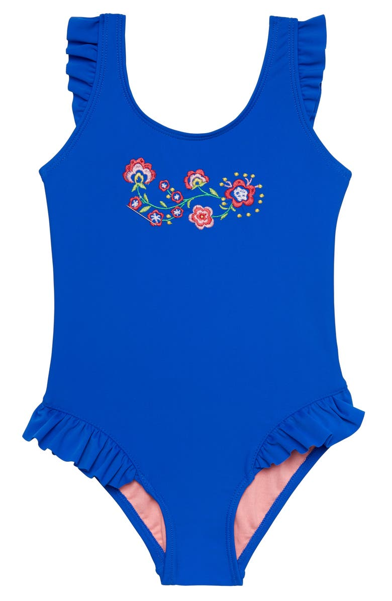 HULA STAR Confetti Flower One-Piece Swimsuit, Main, color, 499