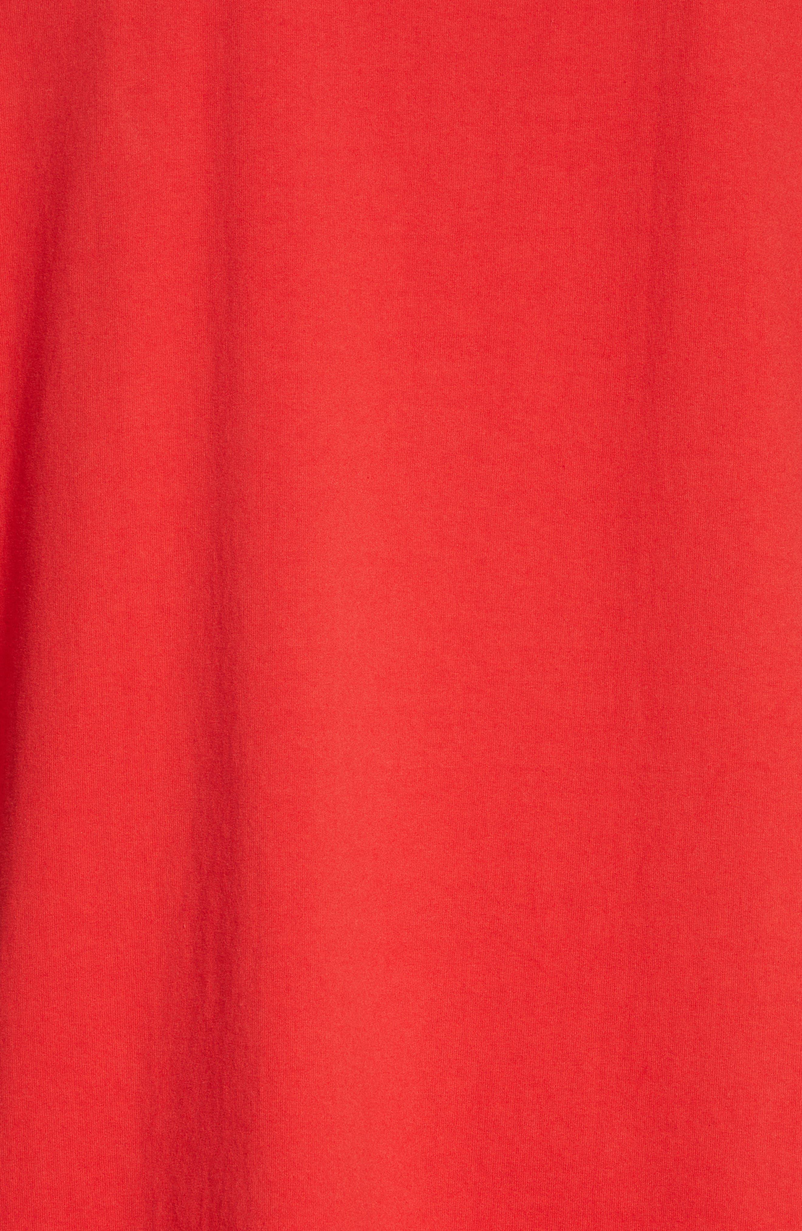,                             Oversize T-Shirt,                             Alternate thumbnail 5, color,                             RED