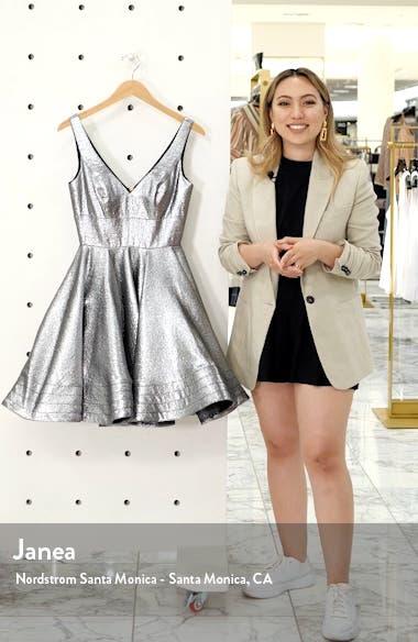 Metallic Fit & Flare Cocktail  Dress, sales video thumbnail