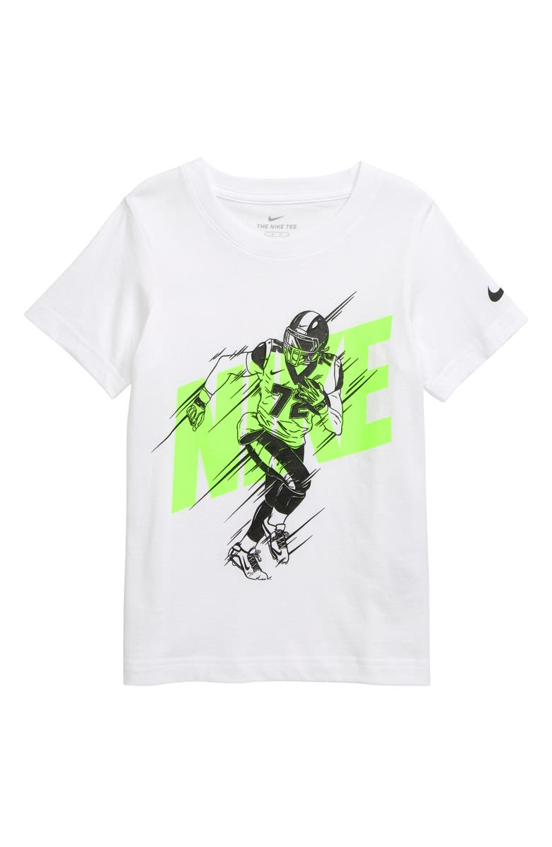 NIKE Football Graphic T-Shirt, Main, color, WHITE