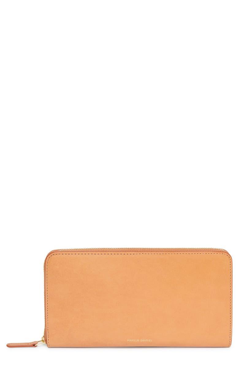 Mansur Gavriel Continental Zip Leather Wallet