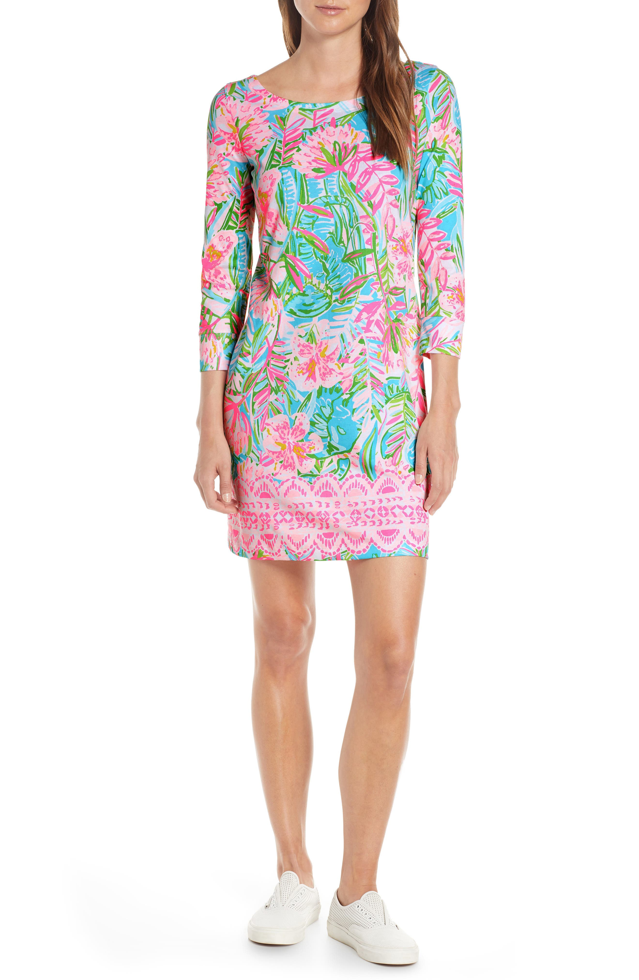 Lilly Pulitzer Hollee Shift Dress, Blue/green