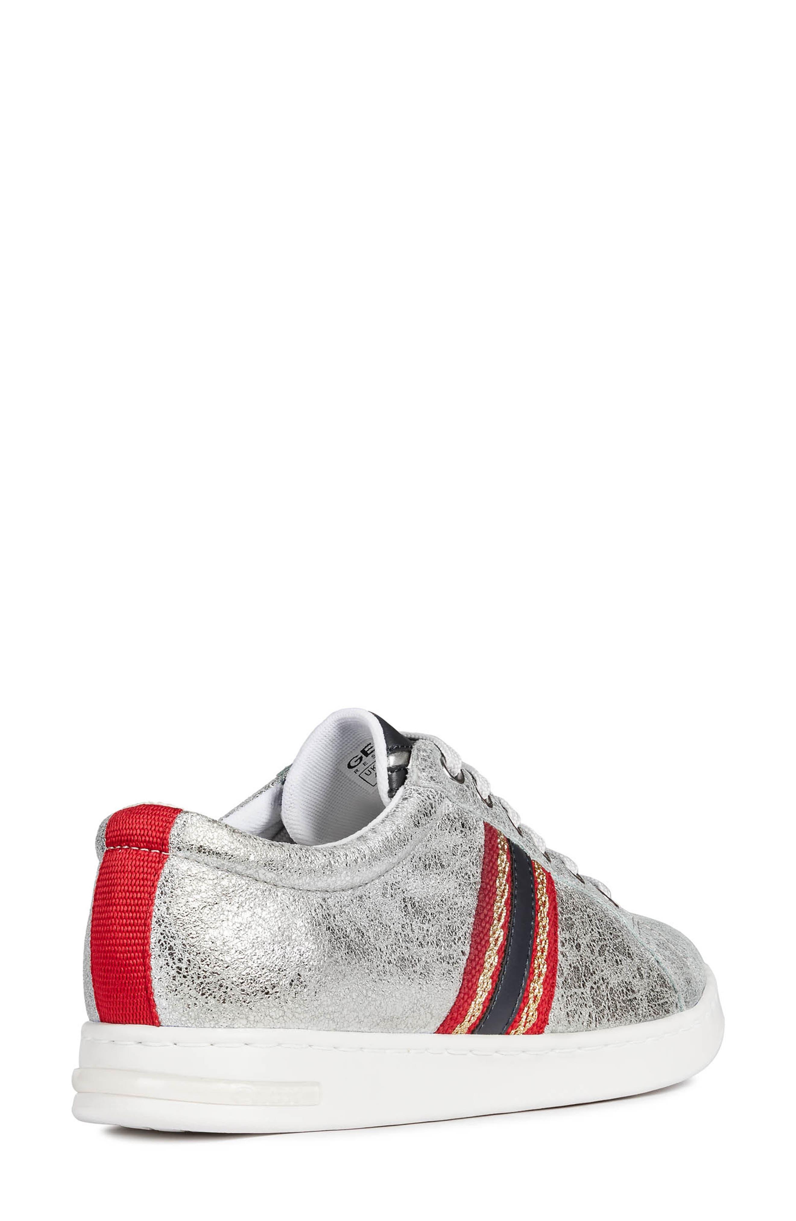 ,                             Jaysen Sneaker,                             Alternate thumbnail 7, color,                             SILVER/ NAVY LEATHER