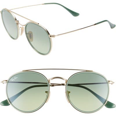 Ray-Ban 51Mm Aviator Gradient Lens Sunglasses - Gold/ Green Gradient