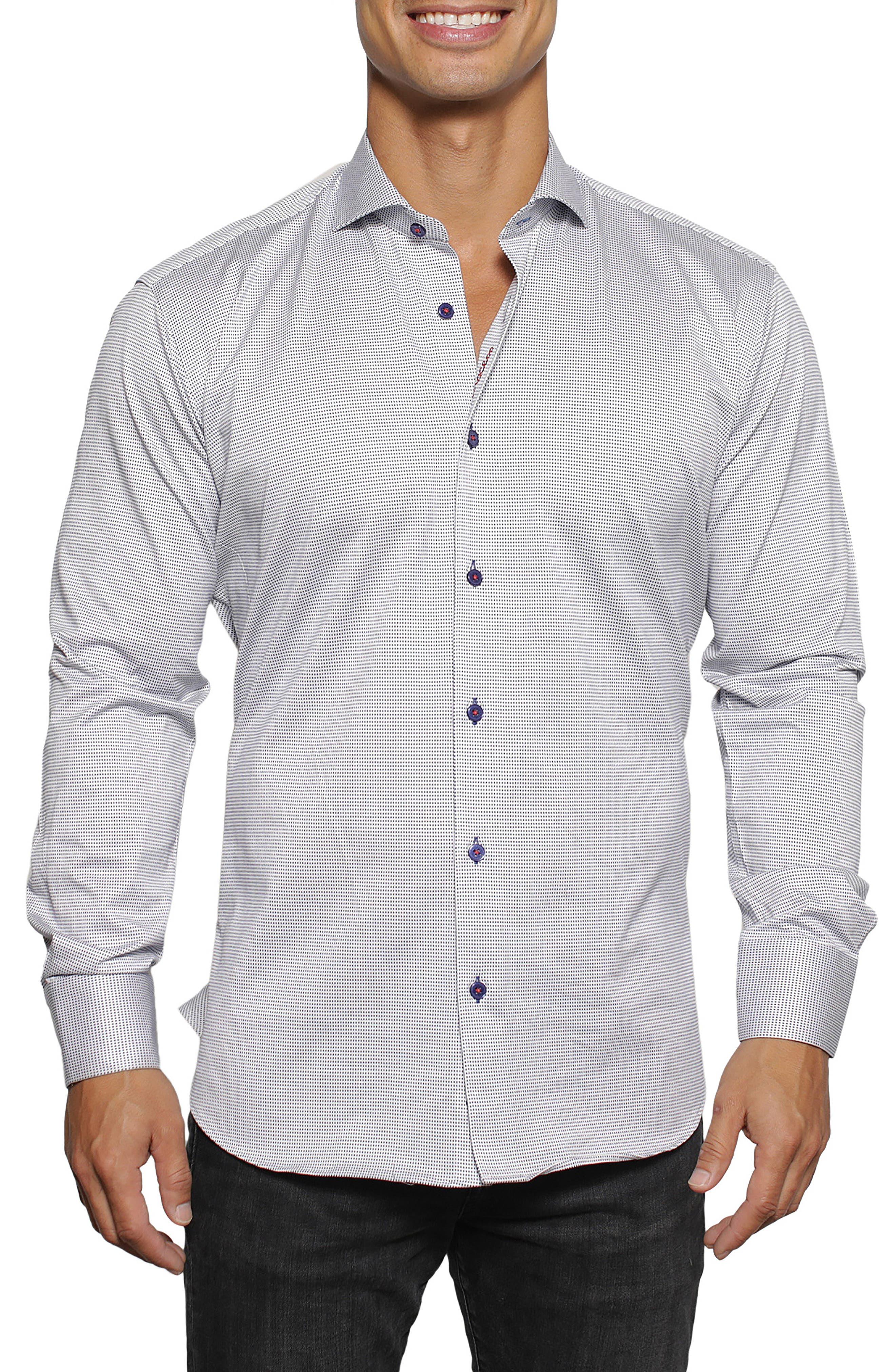 Einstein Squareville Regular Fit Button-Up Shirt